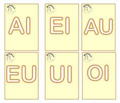 Nesta postagem trago para vocês uma sugestão de jogo lúdico para trabalhar as junções das vogais, pronto para imprimir.