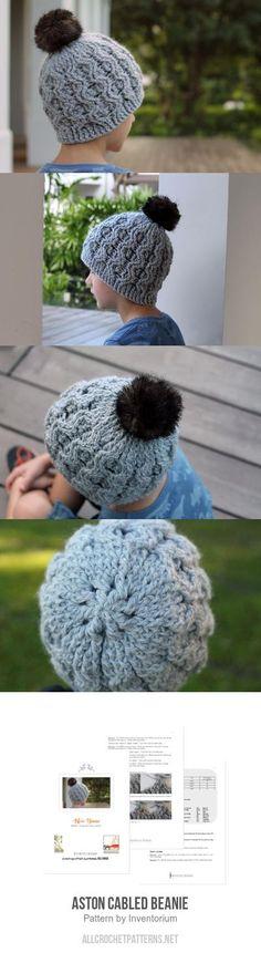 Aston Cabled Beanie crochet pattern