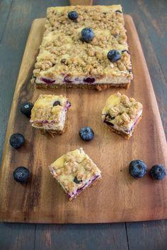 Blueberry Cheesecake Bars, by Maya Kitchenette