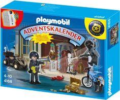 PLAYMOBIL 4168 - Adventskalender Polizeialarm Schatzräuber auf der Flucht