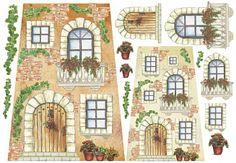 """Рисовая бумага А3""""Двери, окна, балкон"""""""