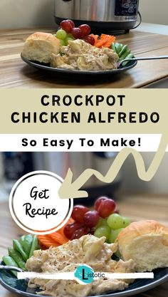 A crock pot recipe you can add to your list of favorites. Simple Alfredo from a jar, cheese tortellini and shredded chicken. You could easily make this into a freezer meal or have all the ingredients on hand for a simple meal prep day. Easy Meat Recipes, Slow Cooker Recipes, Crockpot Recipes, Easy Meals, Cooking Recipes, Dinner Recipes, Freezer Recipes, Freezer Cooking, Drink Recipes