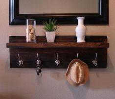 diy coat hooks with shelf - Google Search