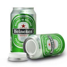 Heineken Stash Blik is een opbergblik van het échte merk Heineken.