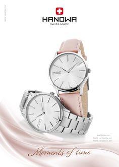 Stalowa bransoleta czy skórzany pasek – obie wersje #Hanowa #Pure prezentują się świetnie. #zegarki #hanowapure #steel #leather #sweet #pink #composition #ad #butikiswiss