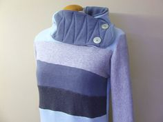 BREEZY  Hoodie Sweatshirt Sweater  Recycled by MungoCrafts on Etsy