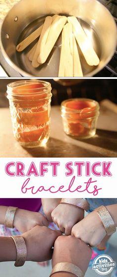 DIY Craft Stick Bracelets