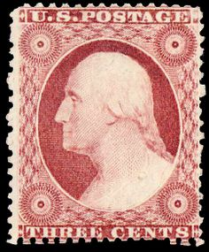 US Stamp 1857 - George Washington US Pres 1789-1797) 3c rose red or dull red Type