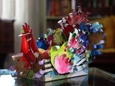 Aunt Peaches: Jive Turkey: Kid's Art Turned into a Seriously Cool Thanksgiving Centerpiece