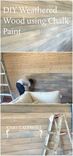 """Learn how to use Annie Sloan Chalk Paint to create a beautiful weathered wood finish! Visit local Annie Sloan Chalk® Paint Stockist. """"Annex of paredown"""" all things Annie Sloan#InteriorDesign https://sellfy.com/p/4GXT/"""