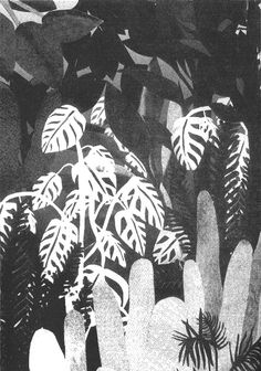 """Risoprint from the zine """"plants + spaces = places"""" by Tali Bayer talibayer.tumblr.com  #talibayer #illustration #risoprint"""