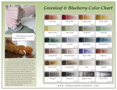 Greenleaf & Blueberry Handmade Watercolors Color Chart