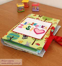 jak uszyć prostą miękką książeczkę dla dziecka - eti blog o szyciu