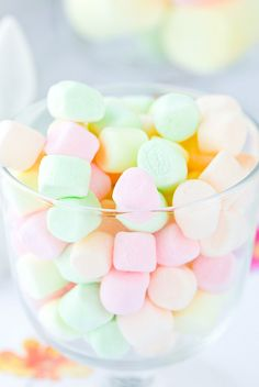 Xtra Inspiration #1: Pastel Colored Marshmallows: These pastel colored marshmallows inspired me because they reflect the color scheme I have chosen!