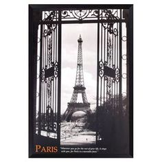 """Framed poster with a Parisian motif.   Product: Framed posterConstruction Material: Paper, MDF and polystyreneColor: Black frameDimensions: 36"""" H x 24.25"""" W"""