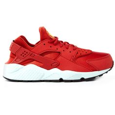 competitive price 6ac4a f7525 Nike Orange Huarache Run Trainers ( 130) ❤ liked on Polyvore featuring shoes,  sneakers