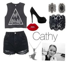"""""""Party time"""" by creativangel on Polyvore featuring Mode, Topshop, New Look, Carolina Glamour Collection und Lime Crime"""