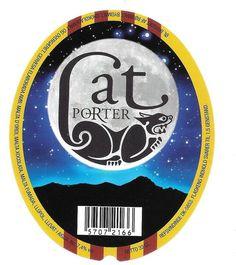 Denmark  Beer Label Danish Refsvindinge Cat Porter
