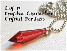 Wire Wrapping for Beginners Day 17:  Upcycled Chandelier Crystal Pendant.  I'm working my way through my own book, Wire Wrapping for Beginners 1 project per day.  www.wirewrappingforbeginners.com #wirewrap #jewelrymaking