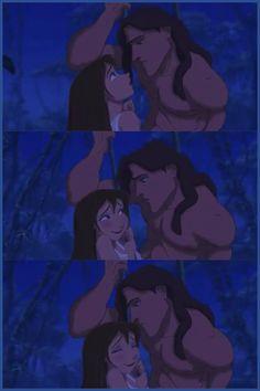 Tarzan and Jane (Tarzan) (c) 1999 Edgar Rice Burroughs & Walt Disney Animation Studios Tarzan Disney, Disney And Dreamworks, Disney Pixar, Disney Characters, Disney Memes, Walt Disney, Disney Animation, Animation Film, Animation Studios