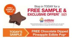 Free Chocolate Dipped Pineapple Daisy Edible Pop at Edible Arrangements Today