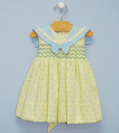 Smocked Sailing Geometric Dress
