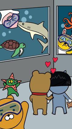 Wallpaper Dekstop, Wallpaper Wa, Homescreen Wallpaper, Kakao Ryan, Apeach Kakao, Cute Themes, Kakao Friends, Tumblr Backgrounds, Line Friends