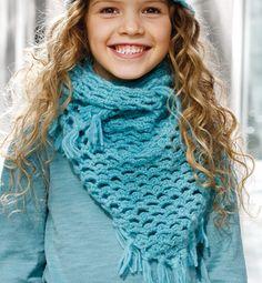 Modèle chèche au crochet fille - Modèles tricot accessoires - Phildar