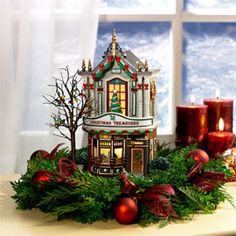 "Department 56: Products - ""Christmas Treasures"" - View Lighted Buildings"