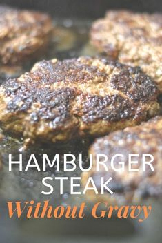 If you have ground beef, peppers and onions, you can make this quick hamburger steak without gravy recipe in less than 30 minutes! Hamburger Steaks, Hamburger Steak Recipes, Meat Recipes, Cooking Recipes, Minute Steak Recipes, How To Cook Hamburgers, Homemade Hamburgers, How To Grill Steak, Beef Dishes