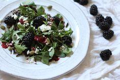 Recipe Box: Wild Rice, Watercress & Blackberry Balsamic Salad | Vidya Living omit cheese for vegan