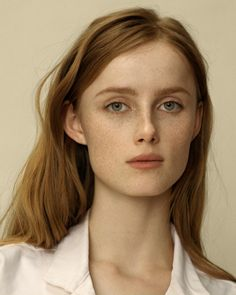 Natural, Girl Next Door Beauty. | Freckle faced ginger beauty. | via cellne.tumblr.com