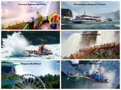 Here are 6 thrilling attractions that get you as close to the Niagara Falls (and the Niagara Gorge in one case) that you can get. How adventurous are you? #NiagaraFalls #NiagaraParks #Hornblower #NiagaraHelicopters #SkyWheel #WhirlpoolJet