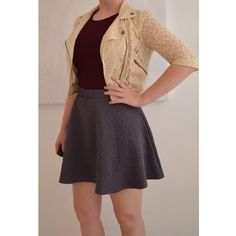 HP 🎀LAST CHANCE!🎀 NWOT Quilted Skater Skirt Gray geometric quilted skater style skirt. High waisted, fit and flare style. Can be dressed up or dressed down! Never been worn! 💋15% OFF BUNDLES! 🛍CLOSET CLOSING on 8/16 so DO NOT WAIT!🎀 Mossimo Supply Co Skirts Circle & Skater