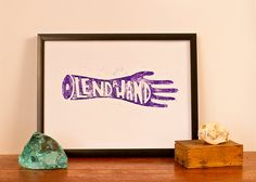 Lend A Hand - White Paper - General Industry on Etsy