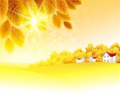 Autumn Golden yellow background vector 03