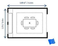 ideal dining table dimensions required for 6 people 96