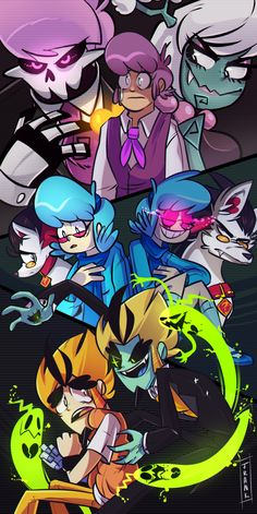 Mystery Skulls Ghost Animated poster.By FrankCat. FOLLOW ME.