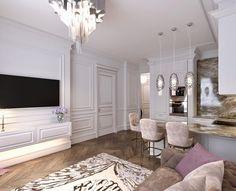"""279 отметок «Нравится», 2 комментариев — Елизавета Салайчук (@elizabeth_studio) в Instagram: «Продолжаю знакомить вас с этим прекрасным интерьером в стиле """"Парижский шик"""" #дизайн…»"""