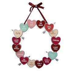 My Funny Valentine, Valentine Crafts For Kids, Valentine Day Wreaths, Valentines Day Decorations, Valentine Day Crafts, Valentine Candy Hearts, Valentines Baking, Valentine Stuff, Valentine's Day Crafts For Kids