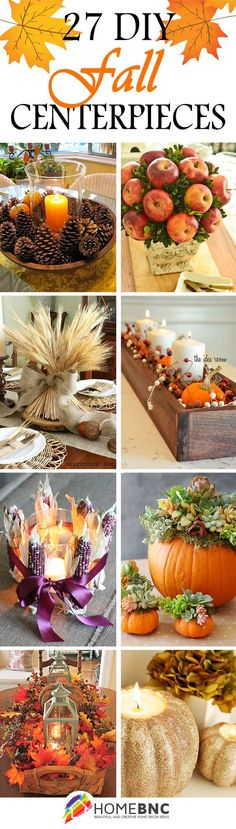 When you're serving up meals cooked with Chili's® Sauces, nice table decorations are a must. Here are some ideas for DIY Fall Centerpiece Decorations.