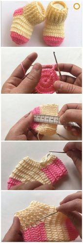Making knitted baby socks - how do you crochet baby socks ?, # baby socks # crochet # knitted baby socks Making knitted baby socks - how do you crochet baby socks? Crochet Shawl, Crochet Stitches, Free Crochet, Crochet Baby Socks, Crochet Clothes, Knitting Socks, Baby Knitting, Knitting Patterns, Crochet Patterns