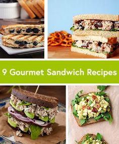Think outside the lunchbox! Here are 9 Gourmet Sandwich Ideas #creative #recipes #lunch
