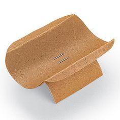 Manjedoura feita de rolo de papel