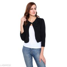 Checkout this latest Capes, Shrugs & Ponchos Product Name: *Alisha Attractive Women Capes, Shrugs & Poncho* Sleeve Length: Three-Quarter Sleeves Fit/ Shape: Shrug Pattern: Solid Multipack: 1 Sizes: XS, S, M, L (Bust Size: 10 in, Length Size: 10 in, Waist Size: 10 in, Hip Size: 10 in, Shoulder Size: 10 in)  XL, XXL Country of Origin: India Easy Returns Available In Case Of Any Issue   Catalog Rating: ★4.2 (1182)  Catalog Name: Alisha Attractive Women Capes Shrugs & Ponchos CatalogID_607385 C79-SC1024 Code: 303-4244602-048