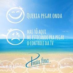 Queria praia, mas só tem TV :(
