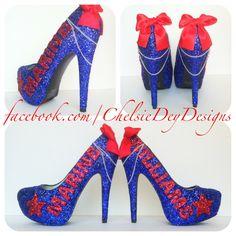Marine Glitter High Heels - pinned by pin4etsy.com