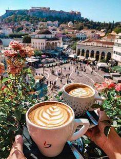 Morning Coffee in Greece I Love Coffee, Coffee Break, Morning Coffee, Coffee Shop, Home Espresso Machine, Coffee Pictures, Coffee Photography, Athens Greece, Latte Art