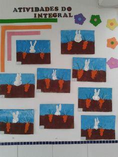 Atividade Páscoa - pintura com esponja