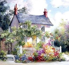 Frameless DIY Oil Painting By Numbers Landscape Picture Painting On Canvas Painting Coloring By Numbers Handpainted Mountain Cross Stitching, Cross Stitch Embroidery, Cross Stitch Patterns, Landscape Pictures, Landscape Paintings, Prayer Crafts, Cross Stitch House, Cross Stitch Landscape, Storybook Cottage